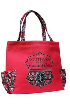 Southern Couture Burlap Tote Bag - Alternate List Image