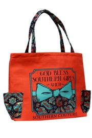 Southern Couture Burlap Tote - Product Mini Image