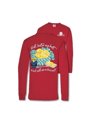 Southern Couture Red Long-Sleeved T-Shirt - Product Mini Image