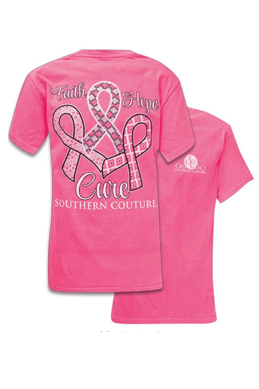 Southern Couture Southern Breast-Cancer-Cure Tee - Main Image
