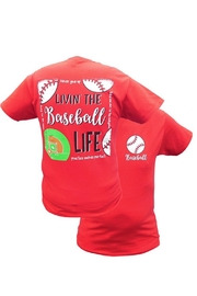 Southern Couture Southern Livin-The-Baseball-Life Tee - Product Mini Image