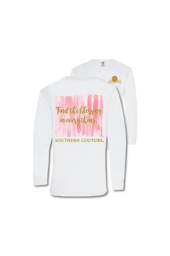 Southern Couture White Long-Sleeved T-Shirt - Alternate List Image