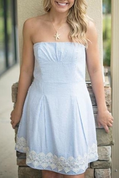 Southern Frock Strapless Seersucker Dress - Product List Image