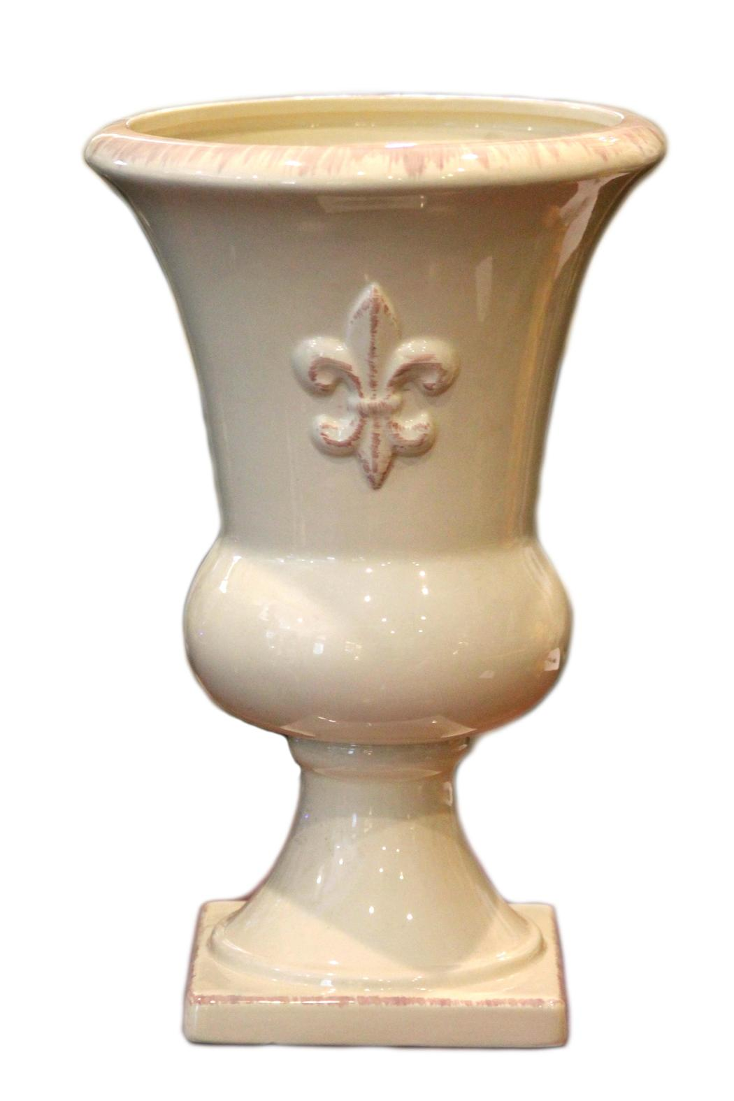 southern living distressed cream vase from baltimore by revive company shoptiques. Black Bedroom Furniture Sets. Home Design Ideas
