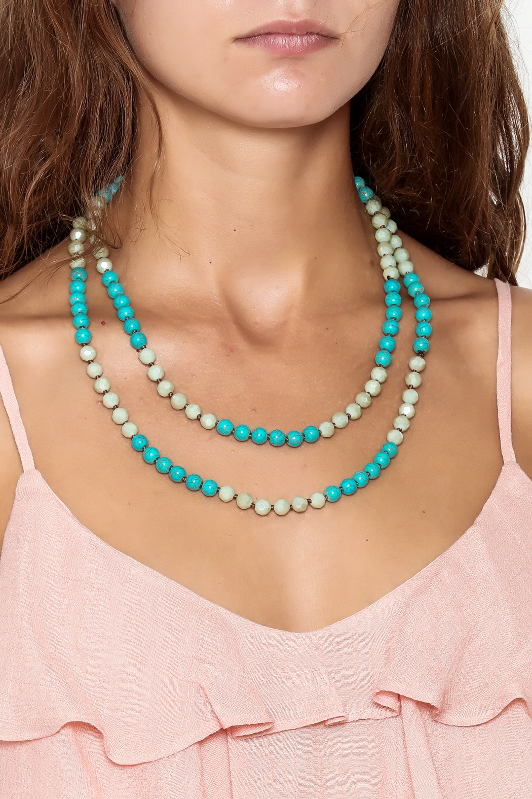Southern Living Long Beaded Necklace - Main Image