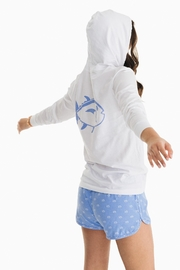 Southern Tide Distressed Skipjack Hoodie - Front full body