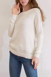Southern Tide Gold Flecked Crewneck - Front full body