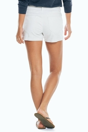 Southern Tide Hayes Distressed-Denim Short - Front full body