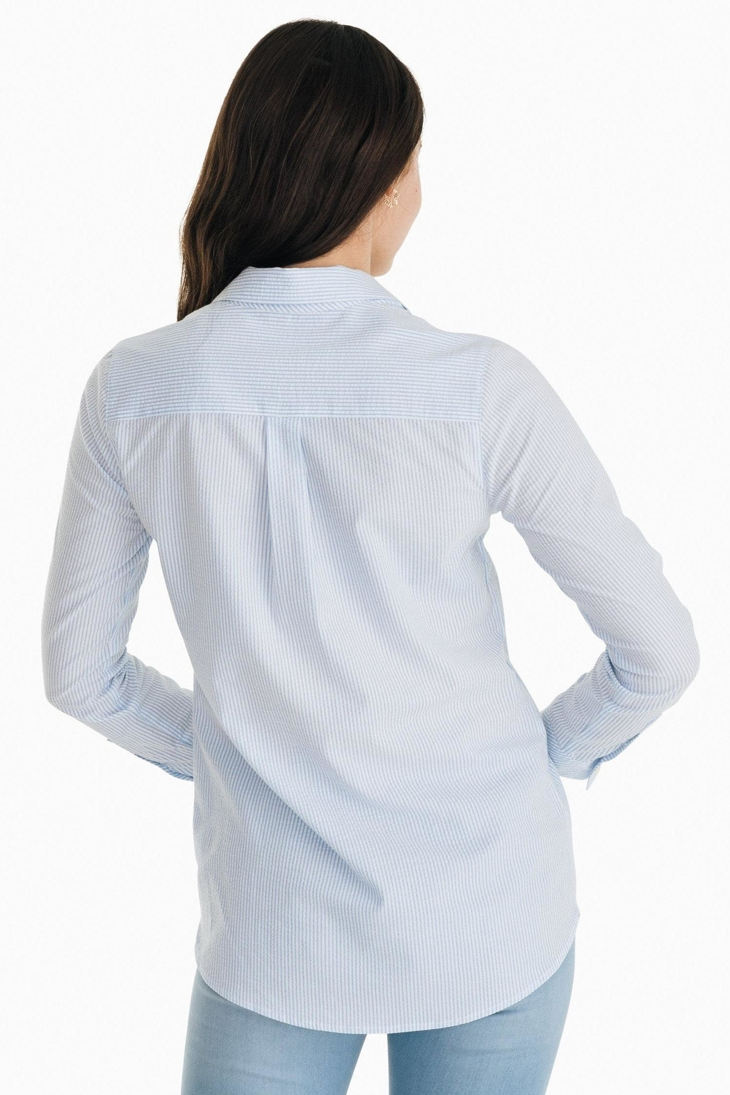 Southern Tide Kasey Seersucker Tunic-Popover - Front Full Image