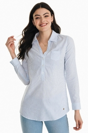 Southern Tide Kasey Seersucker Tunic-Popover - Front cropped