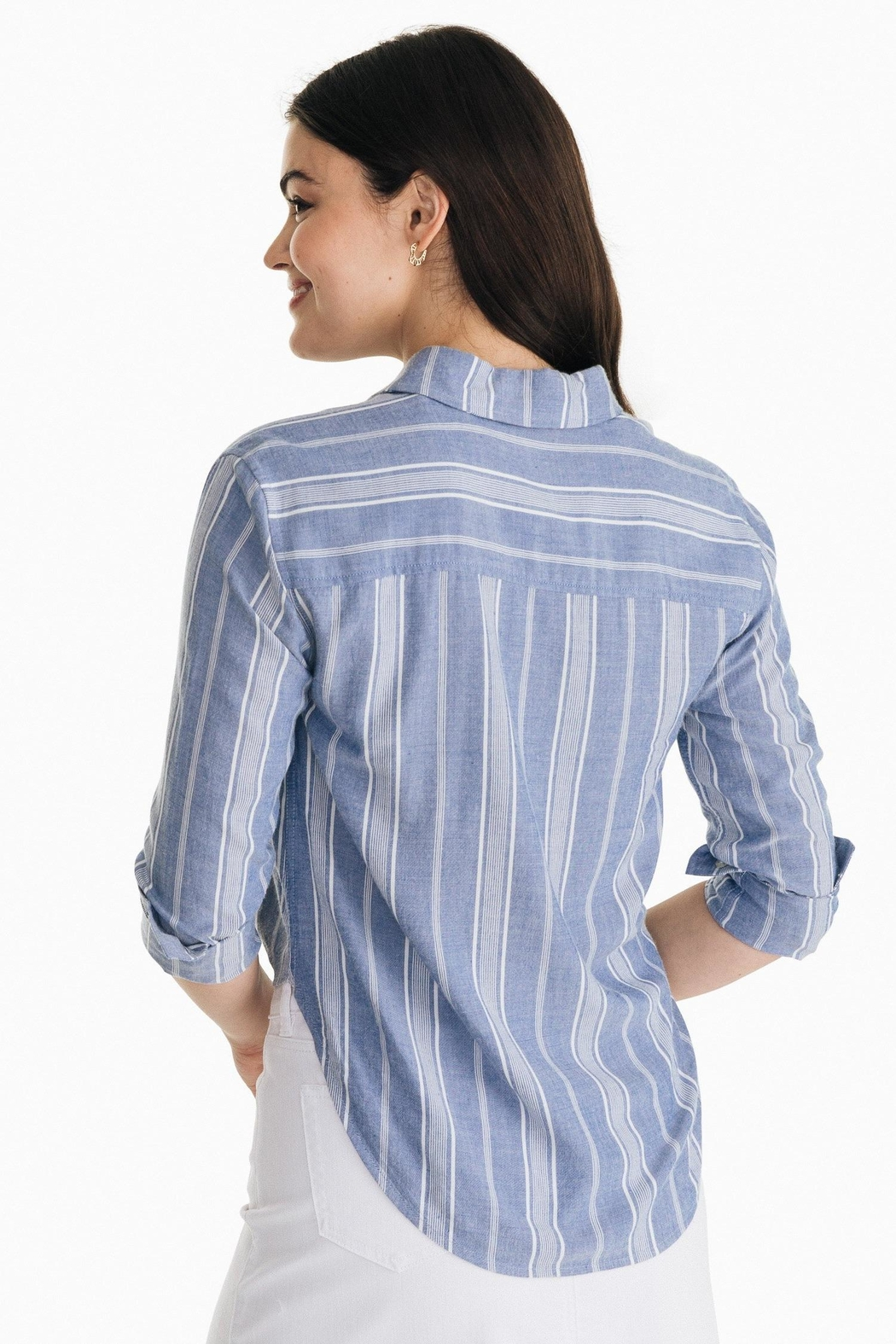 Southern Tide Madelyn Tie-Front Shirt - Front Full Image
