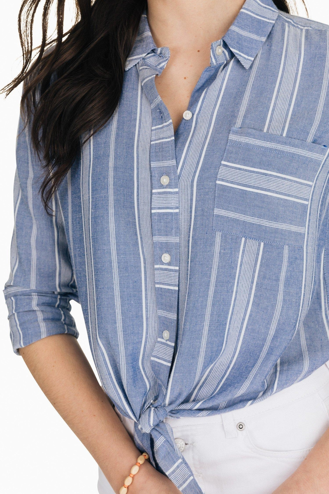 Southern Tide Madelyn Tie-Front Shirt - Side Cropped Image