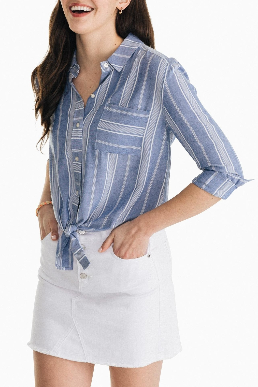 Southern Tide Madelyn Tie-Front Shirt - Main Image