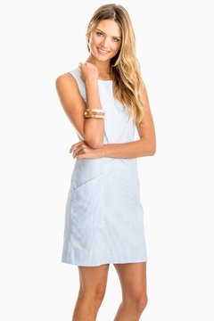 Southern Tide Paislee-Blue Seersucker-Shift Dress - Product List Image