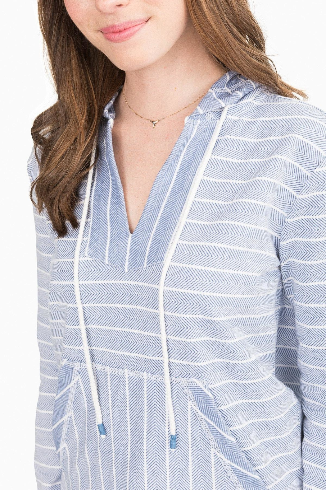 Southern Tide Paiton Striped Hoodie - Side Cropped Image