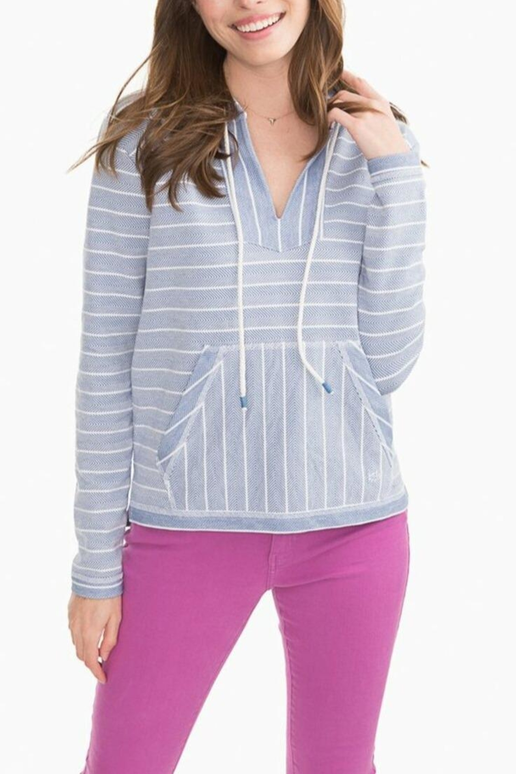 Southern Tide Paiton Striped Hoodie - Main Image
