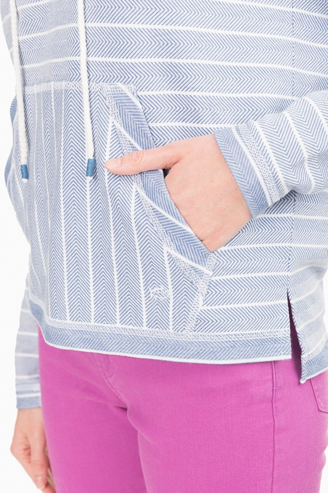 Southern Tide Paiton Striped Hoodie - Back Cropped Image