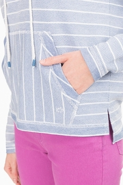 Southern Tide Paiton Striped Hoodie - Back cropped