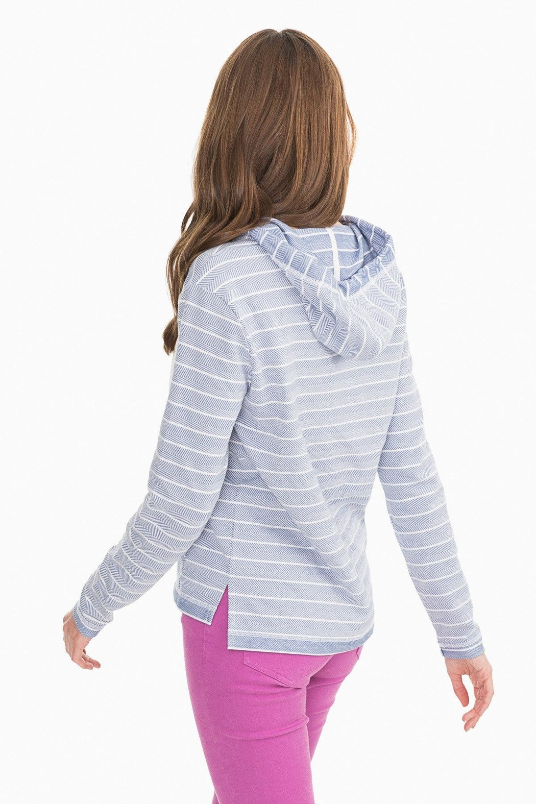 Southern Tide Paiton Striped Hoodie - Front Full Image