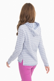 Southern Tide Paiton Striped Hoodie - Front full body