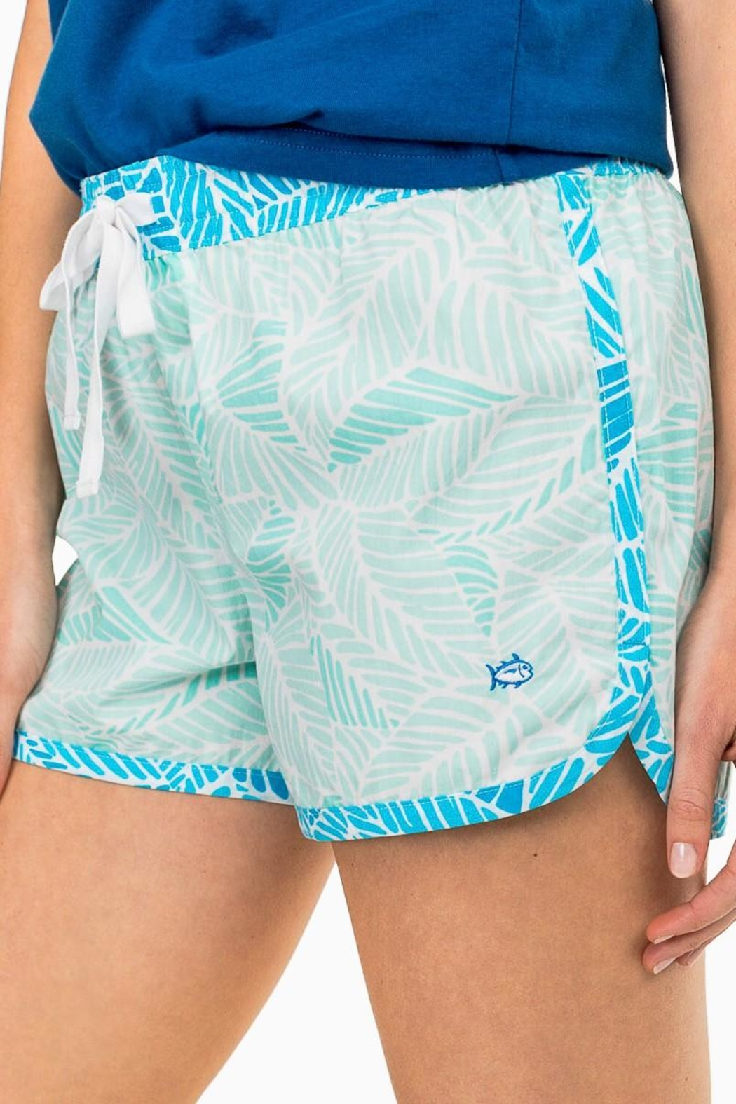 Southern Tide Palm Lounge Short - Front Full Image