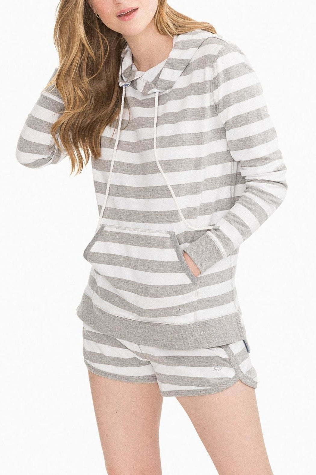Southern Tide Soleil Striped Hoodie - Main Image