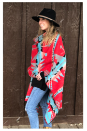 Laura M Southwest Blanket Wrap - Other