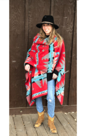 Laura M Southwest Blanket Wrap - Back cropped