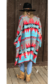 Laura M Southwest Blanket Wrap - Side cropped