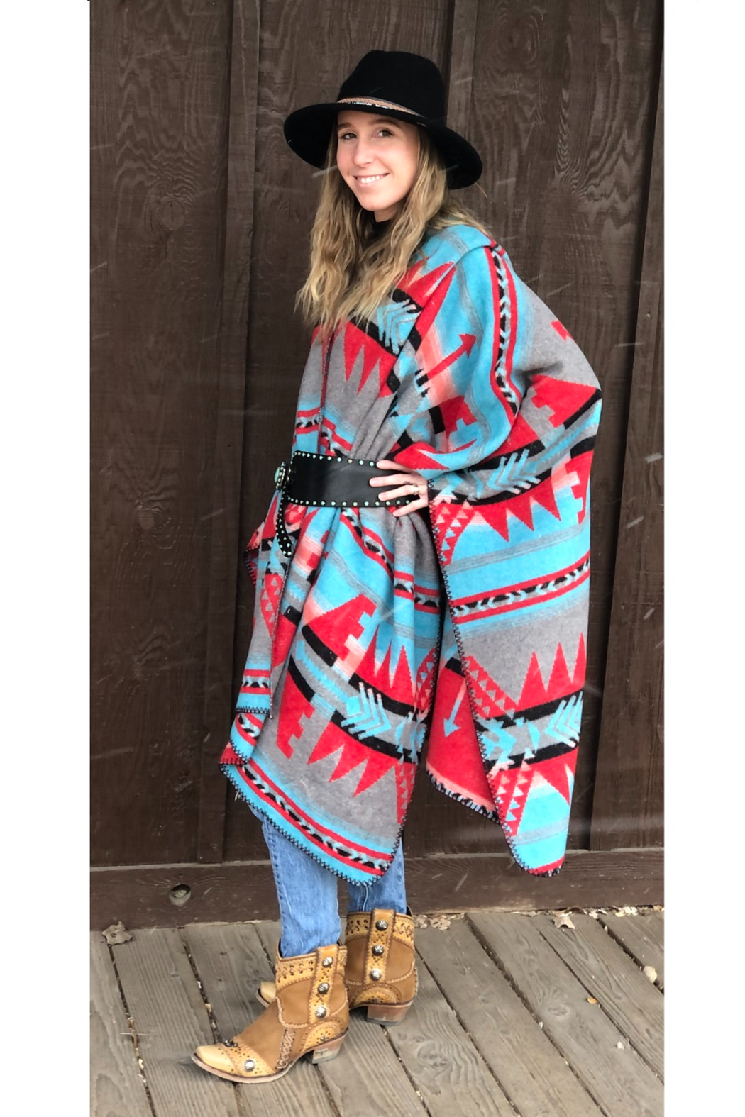 Laura M Southwest Blanket Wrap - Front Full Image