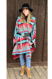 Laura M Southwest Blanket Wrap - Front cropped