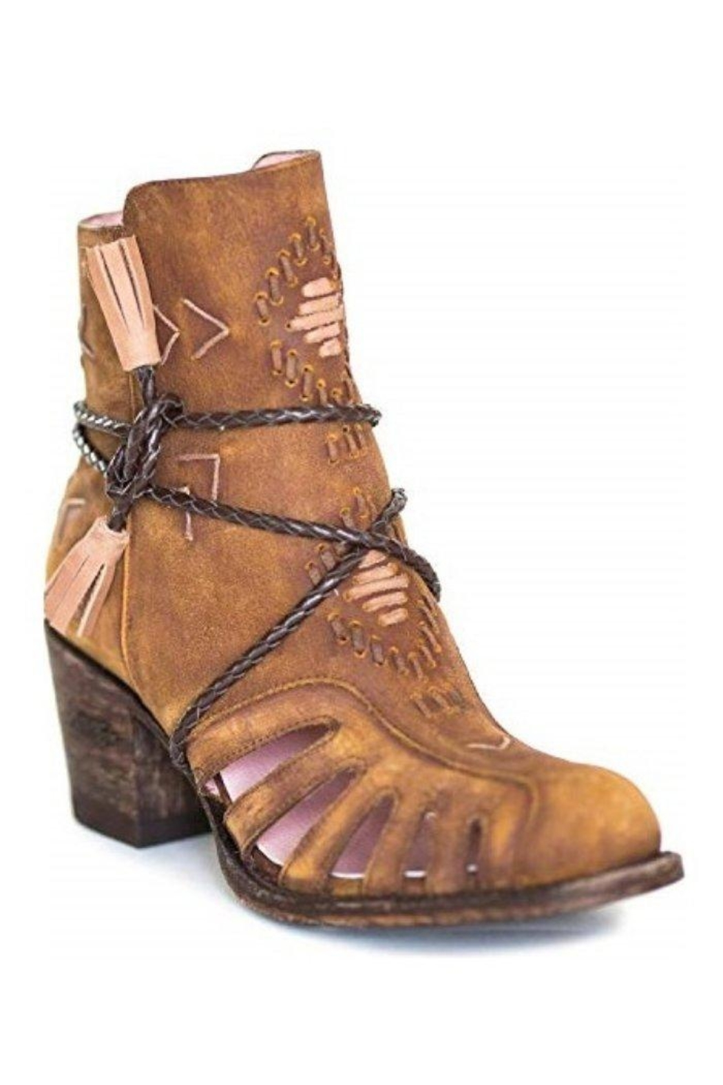 Miss Macie Boots Southwest Cut-Out Bootie - Front Full Image