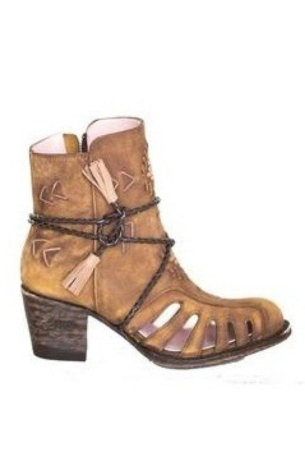 Miss Macie Boots Southwest Cut-Out Bootie - Side Cropped Image