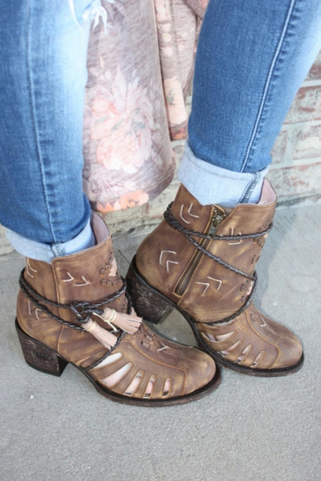 Miss Macie Boots Southwest Cut-Out Bootie - Front Cropped Image