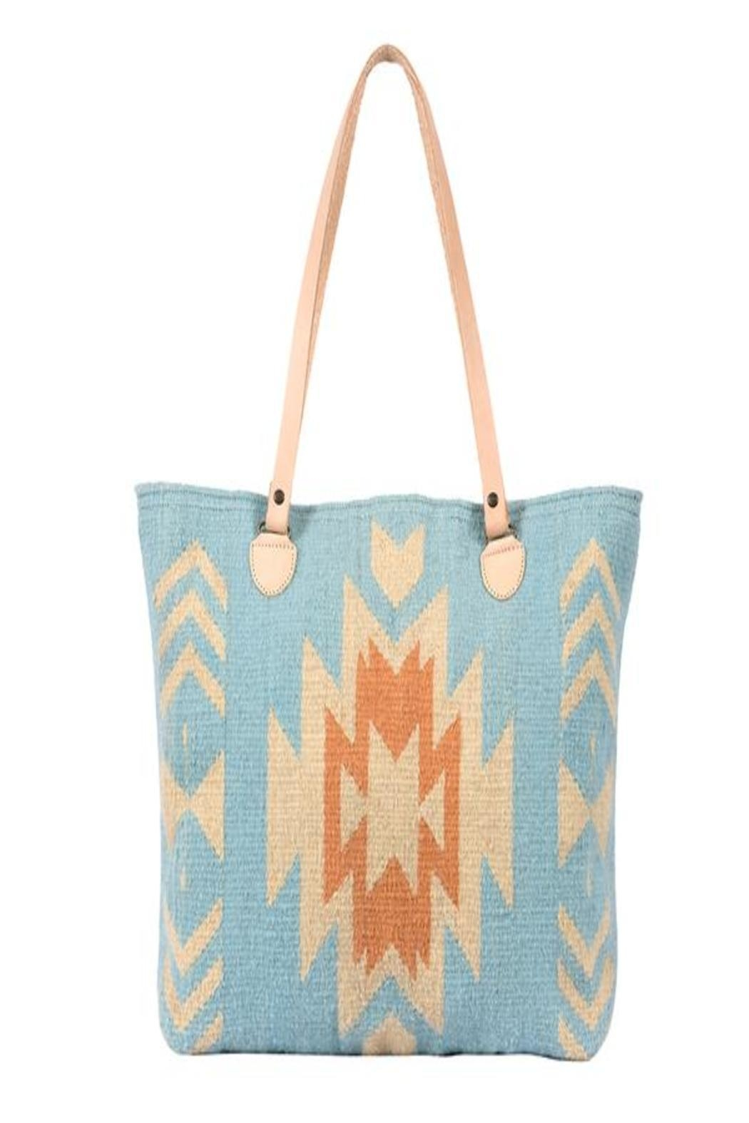 Manos Zapotecas Southwest Skies Tote - Front Cropped Image