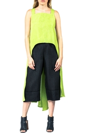 Sova Lime Crisscross Tunic - Front cropped
