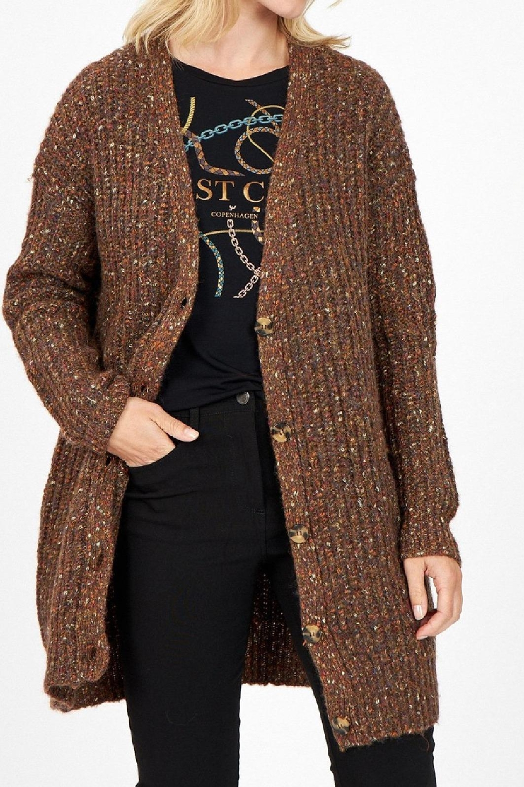 Soyaconcept Cozy Boyfriend Cardie - Front Full Image