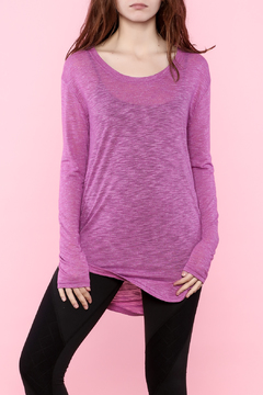 Shoptiques Product: Purple Long Sleeve Sweater