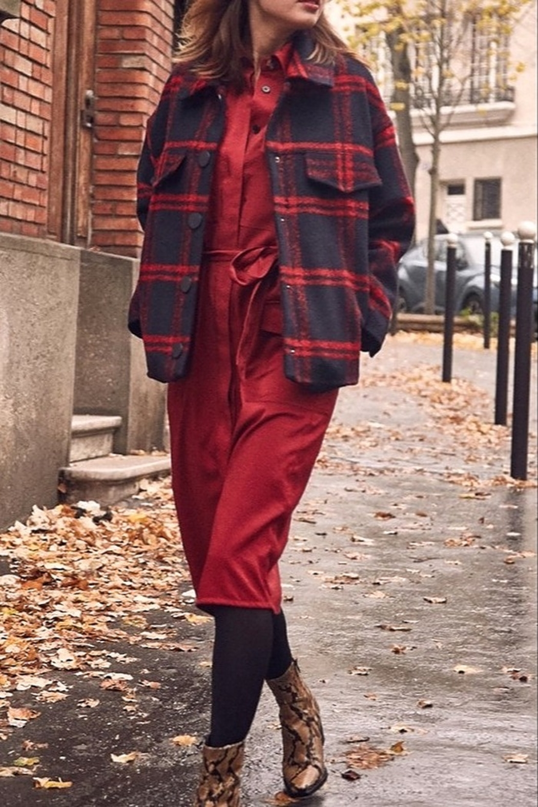 FRNCH Soyra Plaid Jacket - Front Full Image