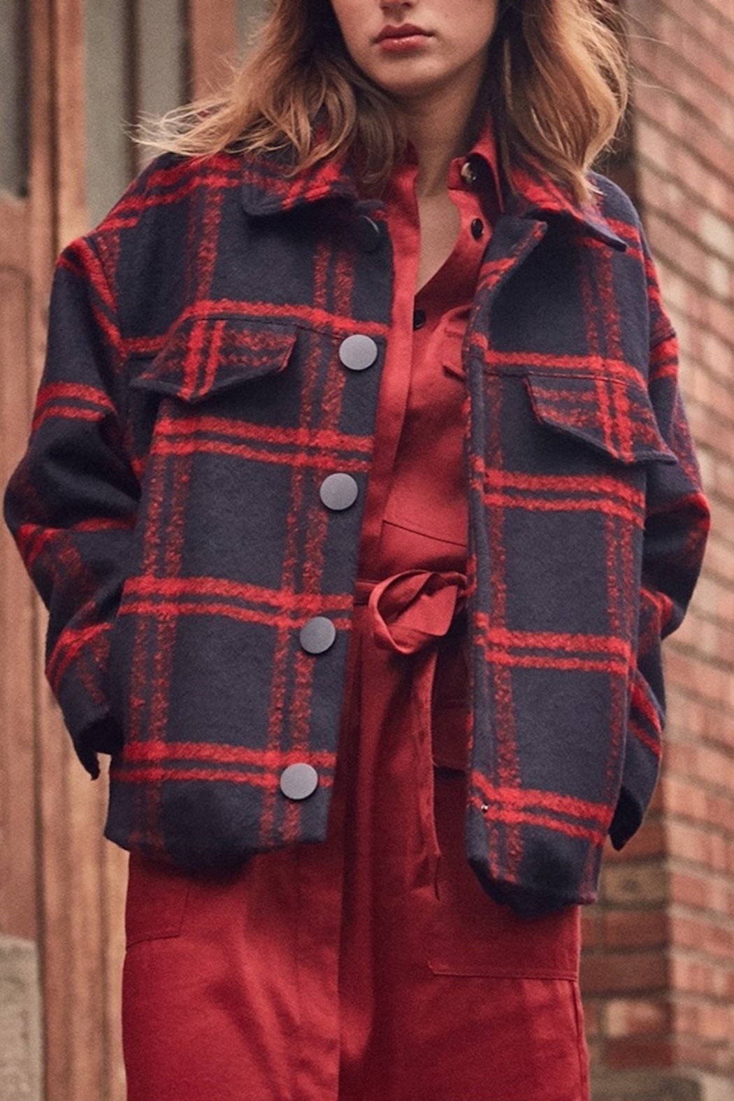 FRNCH Soyra Plaid Jacket - Main Image