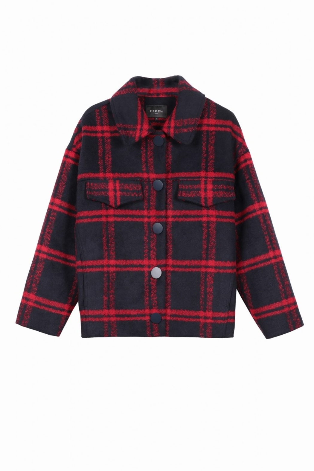 FRNCH Soyra Plaid Jacket - Back Cropped Image