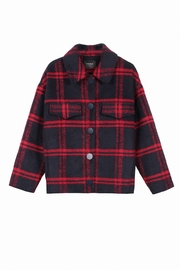 FRNCH Soyra Plaid Jacket - Back cropped