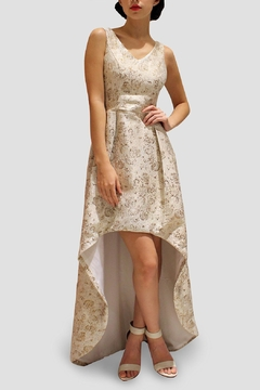 SoZu Asymmetric Brocade Dress - Product List Image