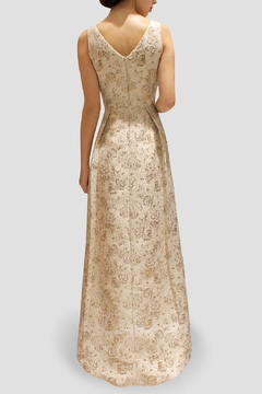 SoZu Asymmetric Brocade Dress - Alternate List Image