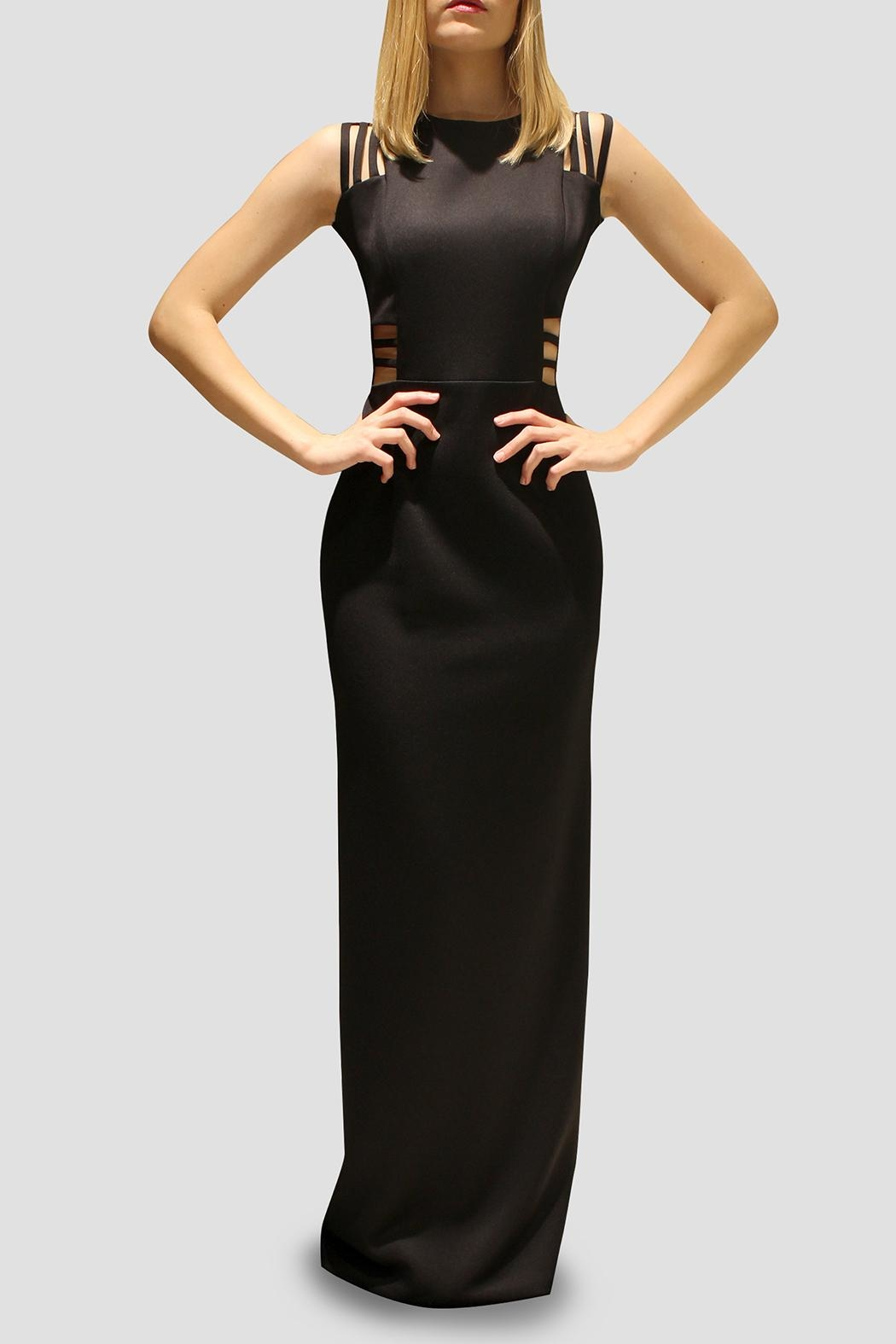 SoZu Cut Out Maxi Dress - Front Cropped Image