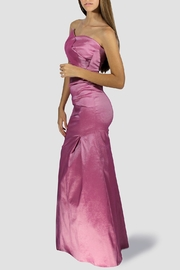 SoZu Draped Strapless Dress - Front full body