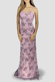 SoZu Periwinkle Floral Lace Dress - Front cropped