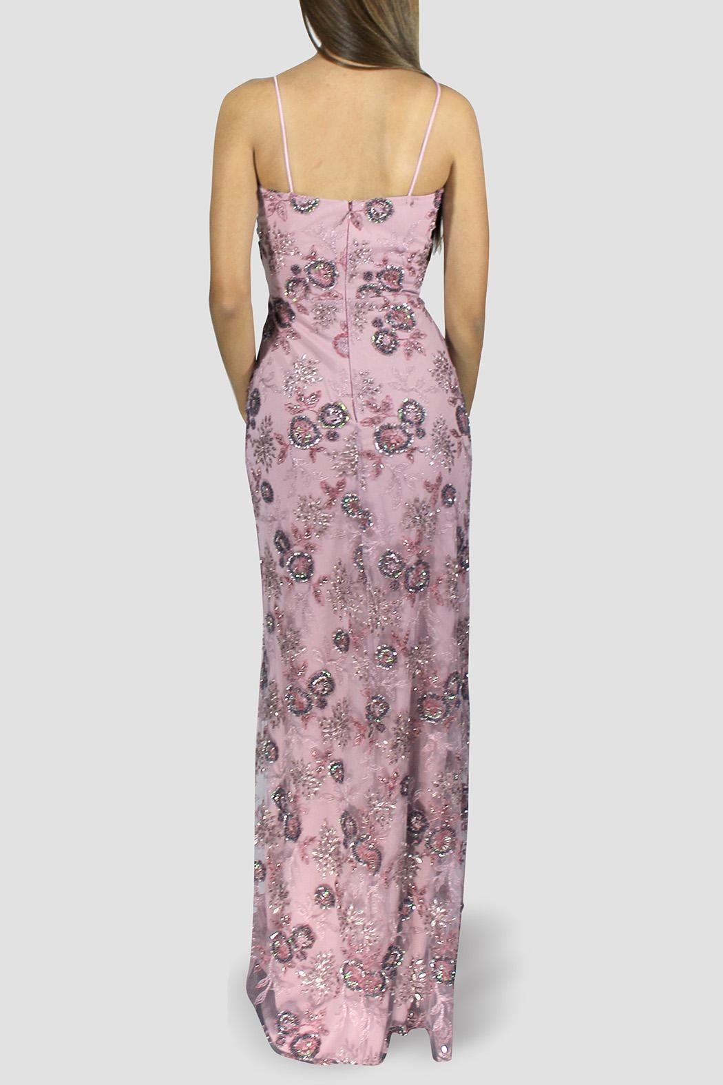 SoZu Periwinkle Floral Lace Dress - Side Cropped Image