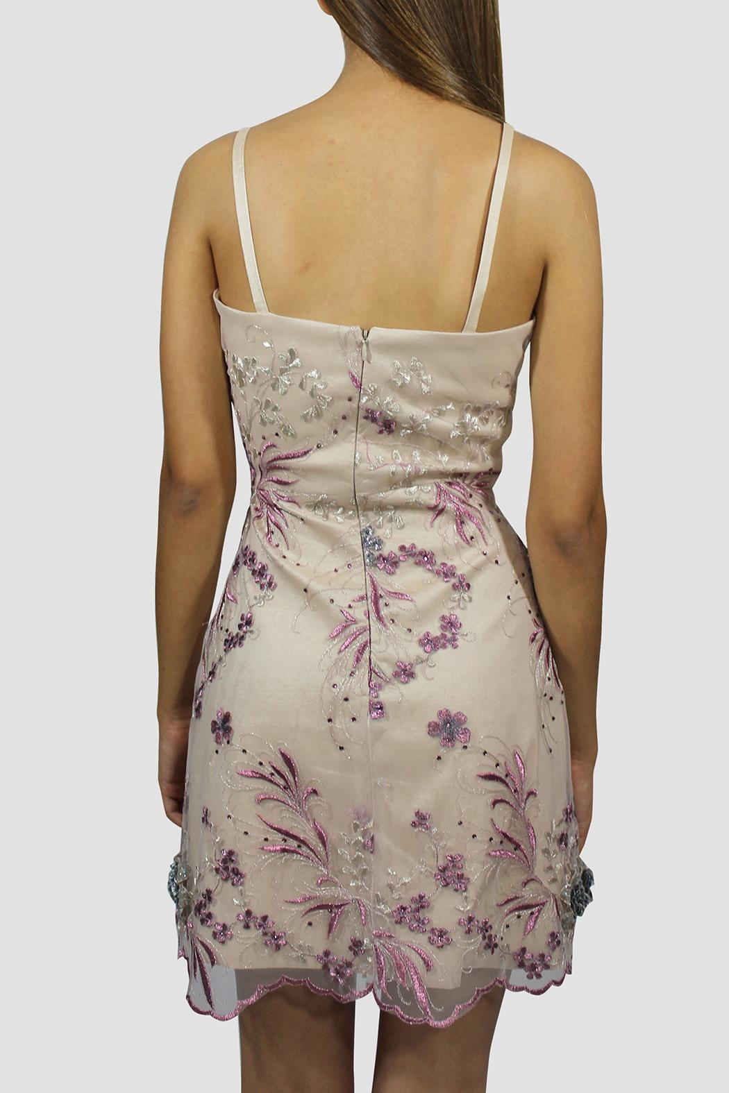 SoZu Floral Lace Sheath Dress - Side Cropped Image