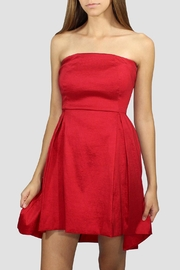 SoZu Red Strapless Dress - Product Mini Image